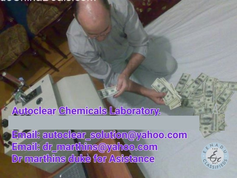 SSD CHEMICALS SOLUTION FOR CLEANING BLACK MONEY AND AUTOMATIC CLEANING MACHINE