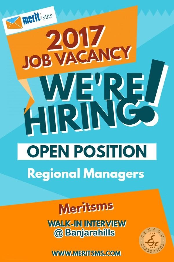 Looking For Regional Managers At Khammam