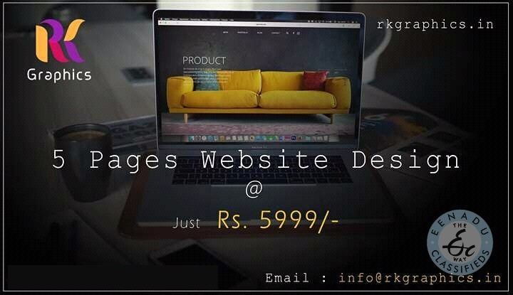 WEBSITE DESIGNING ONLY RS.5999