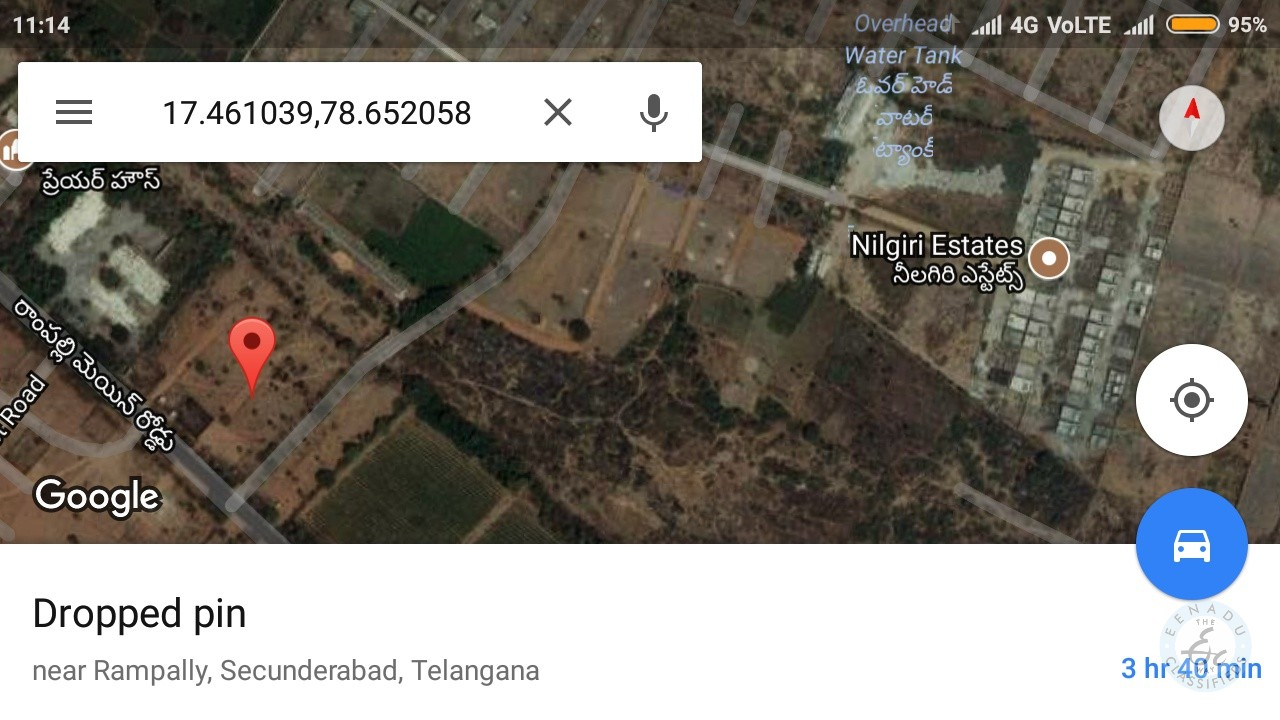 300 Sq.yd. Plot For Sale At Rampally Main Road Hyderabad