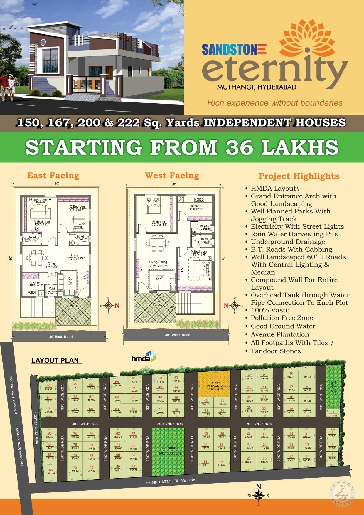 2BHK houses for sale in isnapur hyderabad