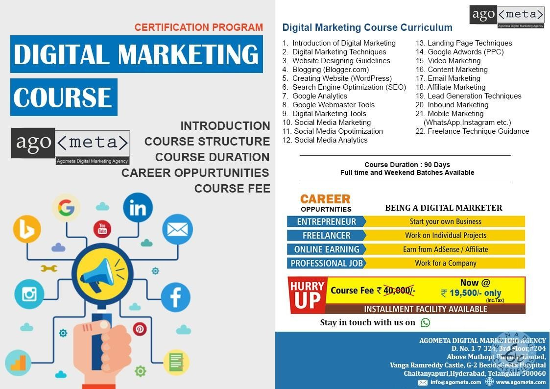 Digital Marketing Training In Dilshuknagar, Hyderabad