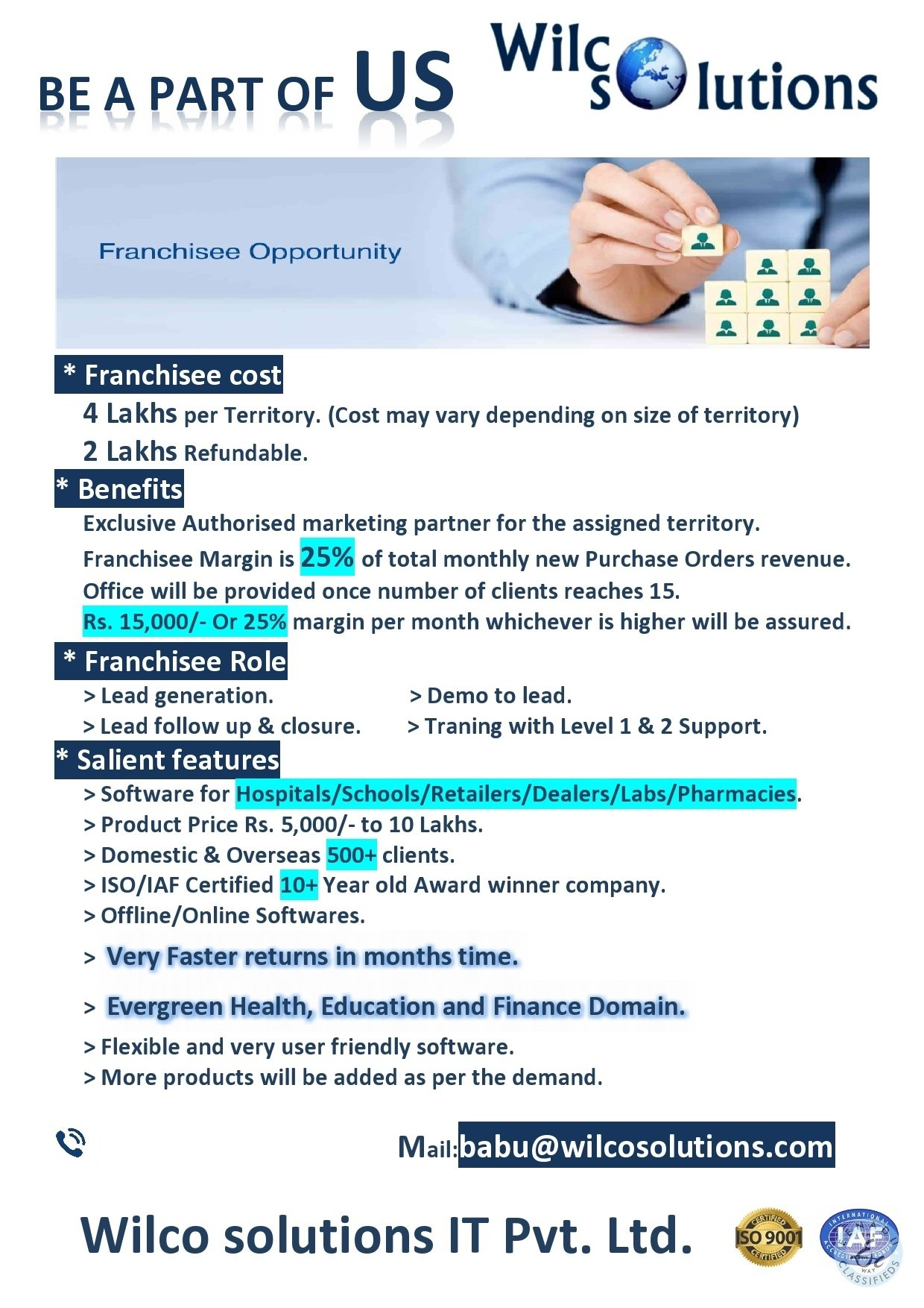 Business Partner Required In Vijayawada