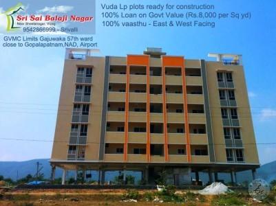 LP+100% Loan ,Ready To Construct Vuda Plot For Sale At Sheelanagar, Close To Gajuwaka,NAD, Gopalapatnam