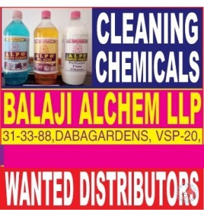 WANTED DISTRIBUTOR FOR CLEANING CHEMICALS AT VISAKHAPATNAM