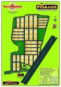 Highway Facing VUDA Layouts For Sale In Srikakulam..Excellent Investment