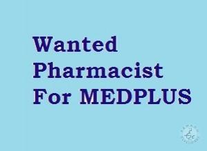 Pharmacist Job Opning In Medchal Hyderabad For MEDPLUS
