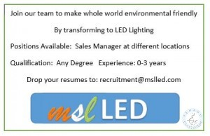 LED Lighting Company Looking For Sales Managers