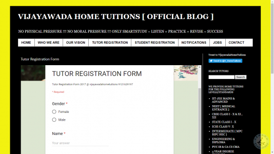 tutor jobs in vijayawada
