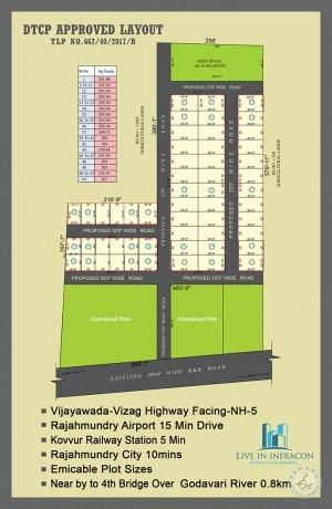 Dtcp Approved Plots For Sale In Kovvur West Godavari