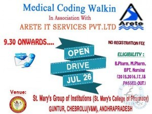 training and placement in vijayawada for medical graduates
