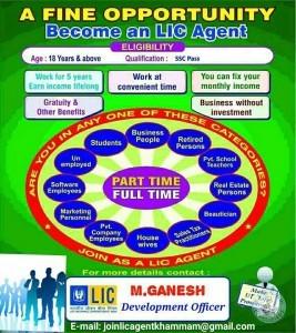 Jobs In LIC Agent In Khammam