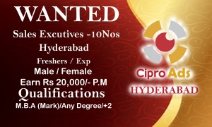 sales excutive jobs in hyderabad