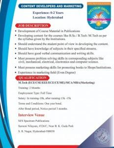 Job Openings In S.R. Nagar Hyderabad