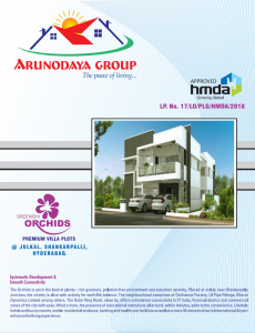 Plots For Sale In Shankarpally Hyderabad