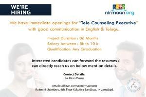 Tele Counselor Jobs In Nizamabad